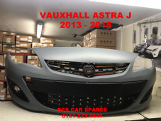 VAUXHALL  ASTRA J   FRONT BUMPER  NEW  2013 - 2015 INC  GRILLS     ( IN PRIMER  READY TO PAINT )
